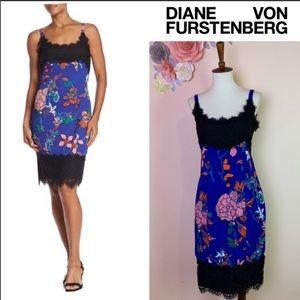 New! DIANE VON FURSTENBERG Lace Floral Dress